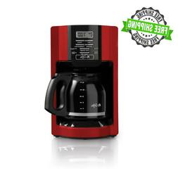 12 Cup Drip Coffee Maker Programmable Automatic Off Brew Res