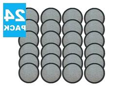 24 Pck Premium Replacement Charcoal Water Filter Disk for Mr