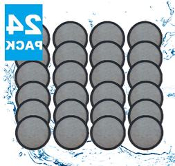 24 superior replacement charcoal water filter disks
