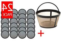 24 Replacement Mr. Coffee Charcoal Coffee Water Disks + Reus