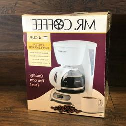 33712 NOS New in Box Mr. Coffee 4 Cup Switch Coffee Maker TF