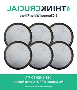 6 Mr. Coffee Charcoal Water Filters; Fits WFF-3 Coffeemakers