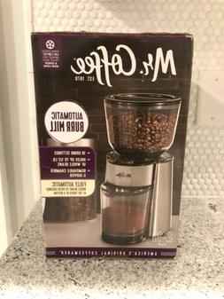 Automatic Burr Mill Coffee Tea Grinder with 18 Custom Grinds