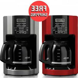 Automatic Drip 12 Cup Coffee Maker Machine Programmable Kitc