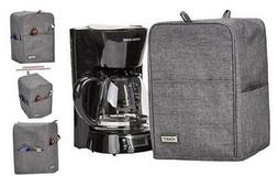 Coffee Maker Dust Cover with Accessory Pockets Compatible wi