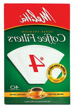 Melitta Cone Coffee Filters, No. 4, 40 filters