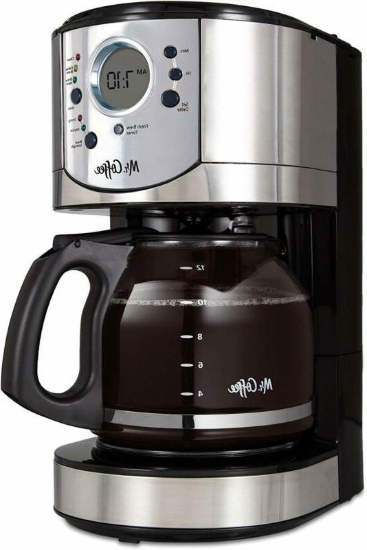 12 cup programmable coffee maker with brew
