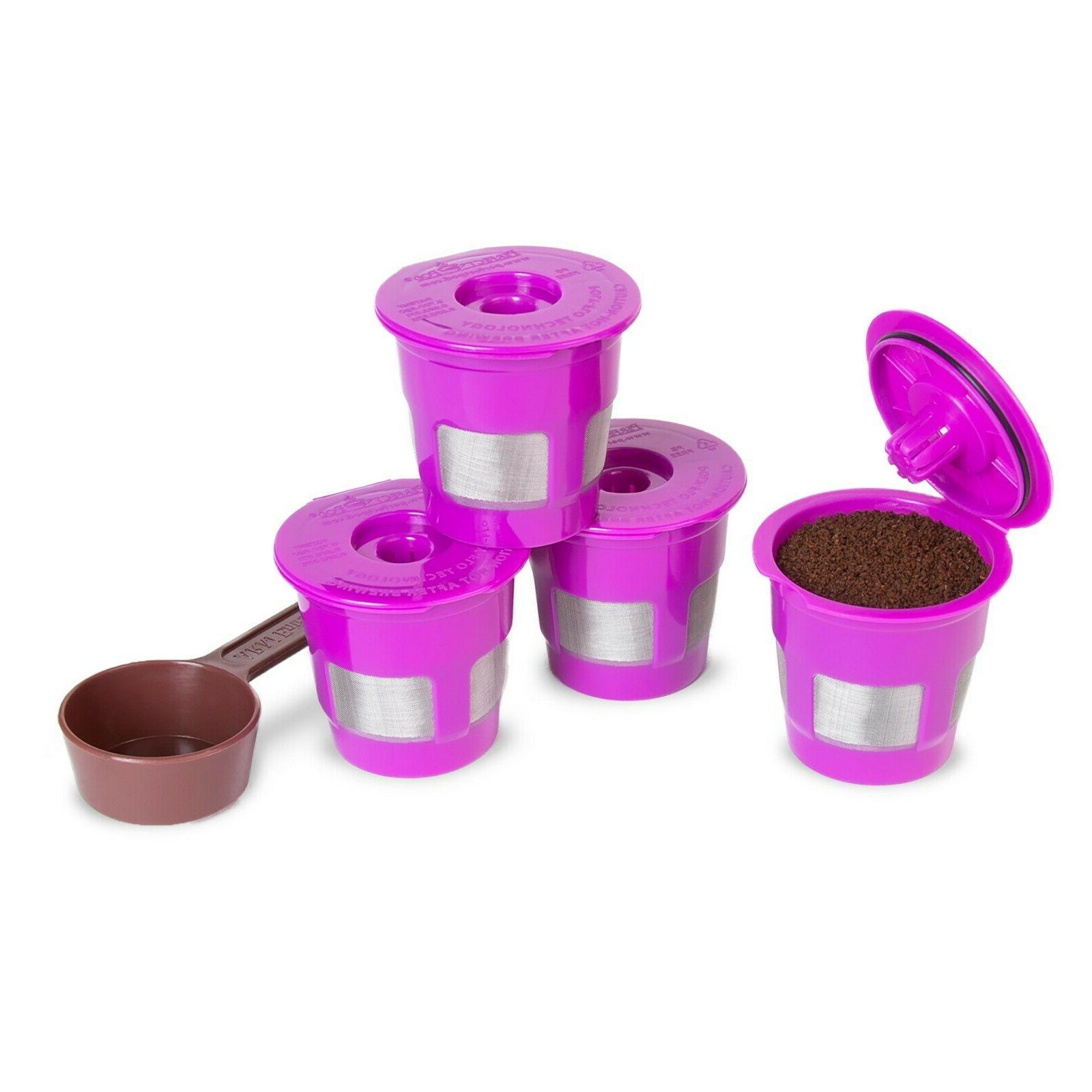 4 Reusable Filters + Coffee Scoop For Mr.Coffee Cuisinart Fl