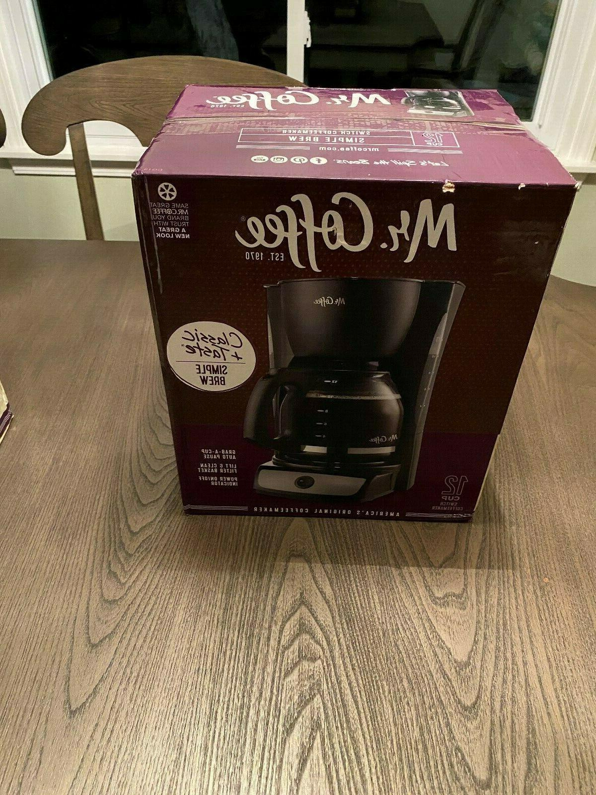 Mr. Coffee CG13-RB 12-Cup Switch Coffeemaker, Black