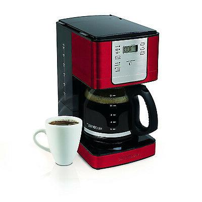 Mr. 12-Cup Programmable Coffee Maker Red