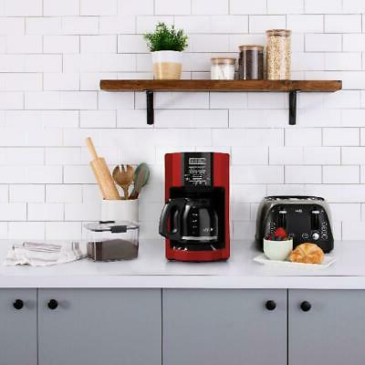 Automatic Brew Coffee Maker Red Removable Basket