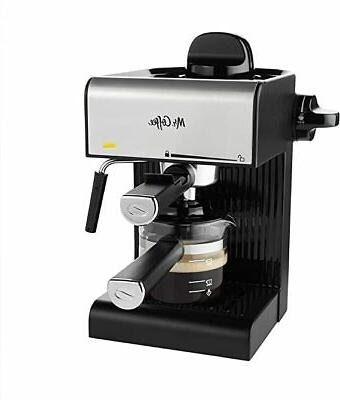 Kitchen Coffee Steam Espresso With Starter Set Black