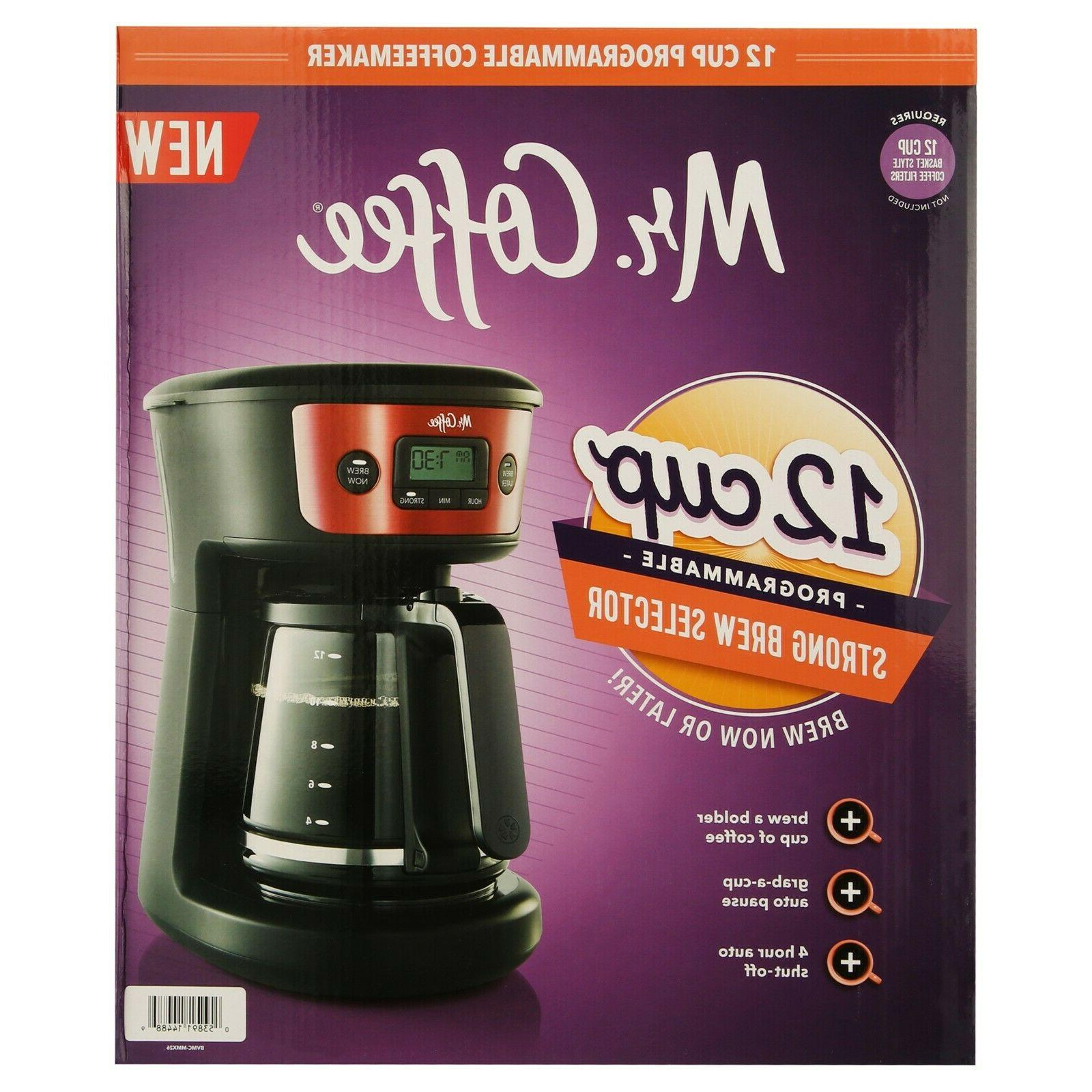 Mr. Coffee 12-Cup Coffeemaker, Strong