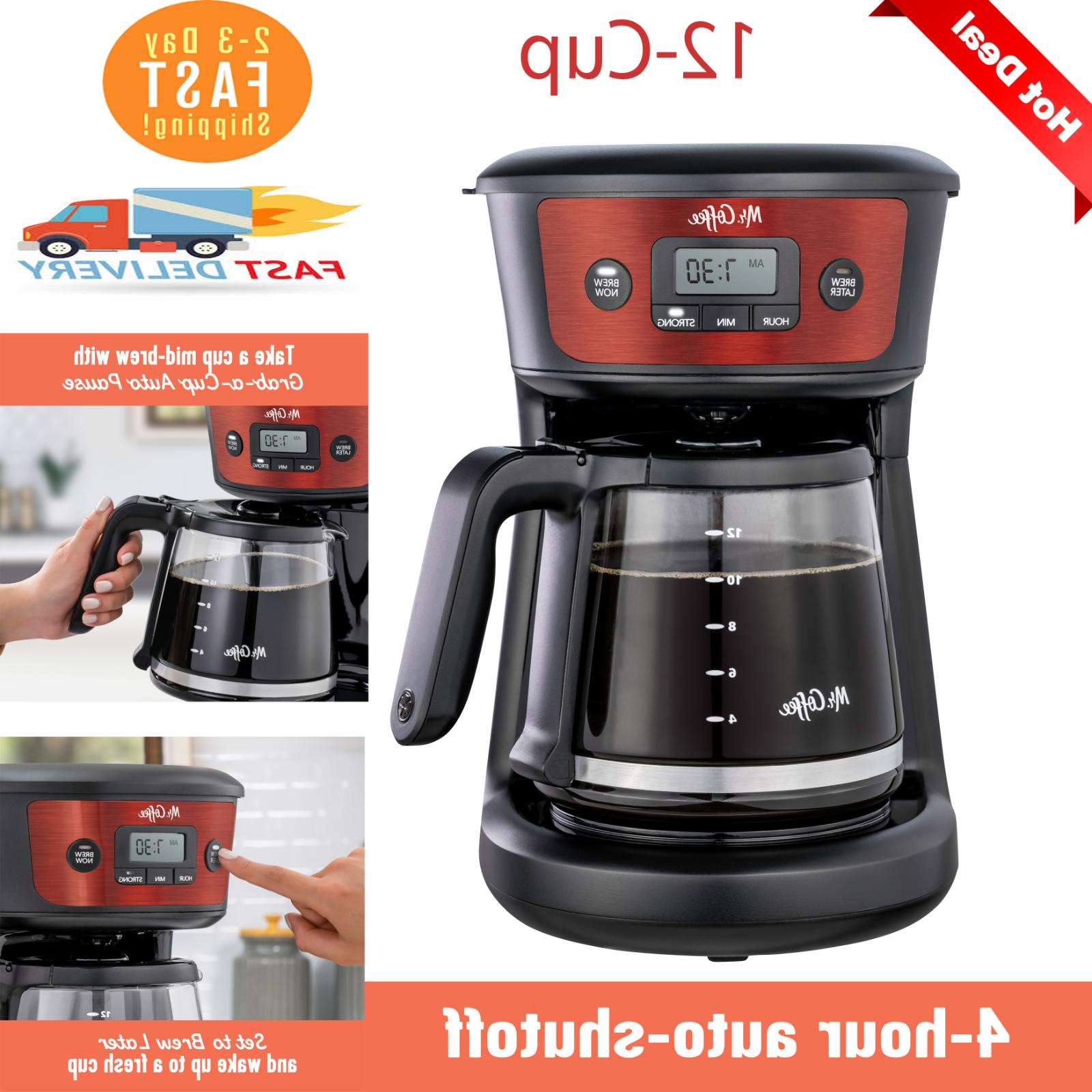 mr coffee 12 cup programmable coffeemaker strong