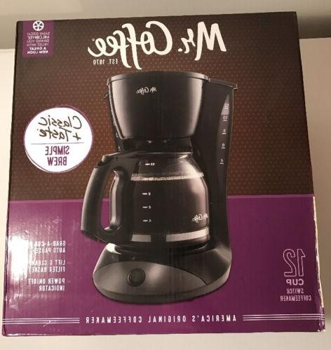mr coffee 12 cup switch coffee maker