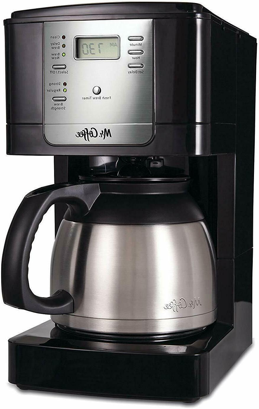 mr coffee 8 cup thermal programmable stainless