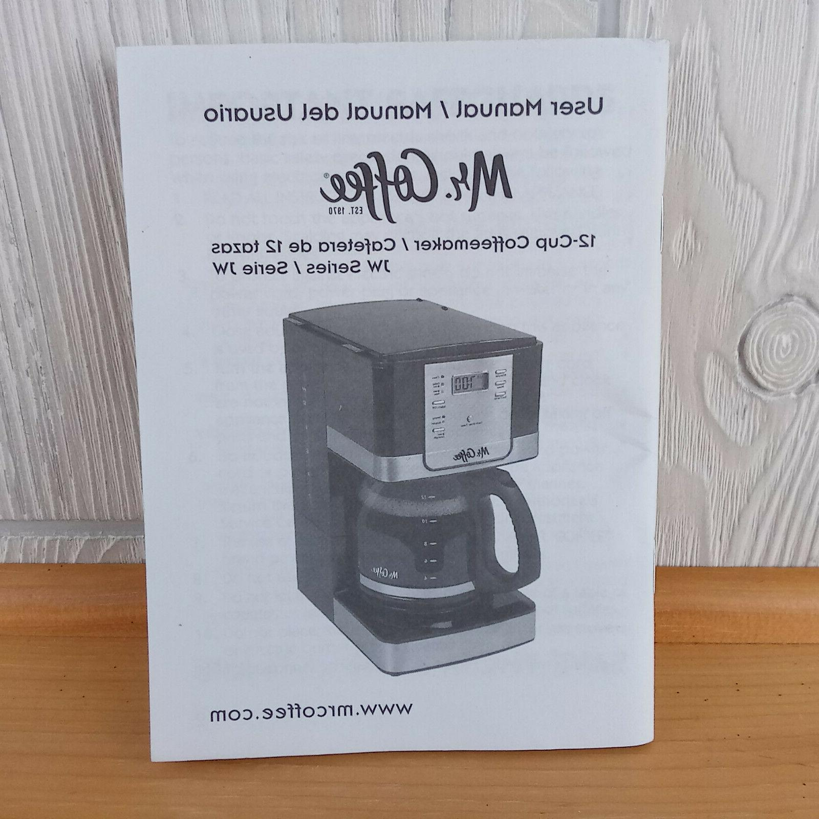 Replacement User Owner Manual ONLY Mr Coffee 12 Cup CoffeeMa