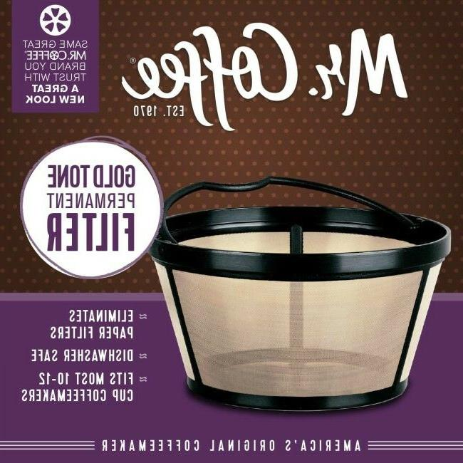 reusable basket coffee filter for 10 12