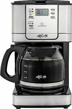 Mr. Coffee - 12-Cup Programmable Coffee Maker with Strong Br