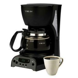 Mr.Coffee 4 Cup Coffee Maker Black Removable Filter Basket D