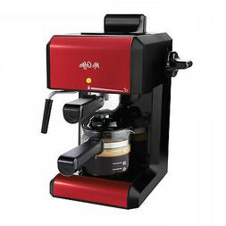 Mr. Coffee Cafe 20 Oz. Steam Automatic Red Espresso And Capp