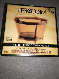Mr. Coffee Coffeemaker Gold Tone Permanent Filter 10-12 Cup