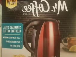 Mr. Coffee Electric Kettle Red Easy View Water Window Auto S