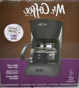 Mr. Coffee Simple Brew 4 Cup Switch Black Coffee Maker NEW