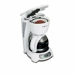 Mr. Coffee Simple Brew 4-Cup Switch Coffee Maker, White TF4
