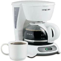 Mr Coffee Simple Brew 4Cup Switch Coffee Maker White TF4 Ser