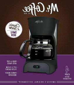 Mr. Coffee Simple Brew Coffee Maker|4 Cup Coffee Machine|Dri