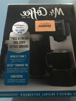 Mr. Coffee Single Cup Coffee Maker - Stainless Steel and Bla