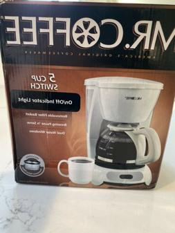 Mr. Coffee TF6 5 Cups Electric Coffee Maker - White