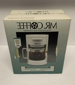 New Vintage Mr Coffee 4 Cup Coffee Maker Model BL4 White Com
