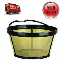 Replacement 10-12 cup Basket-style Gold Tone Permanent Filte