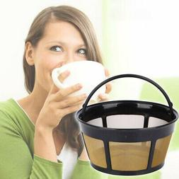Reusable Basket-Style Gold Tone Permanent Coffee Filter for