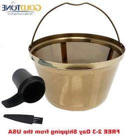 Stainless Steel 8-12 Cup Basket Reusable Coffee Filter - Mr.