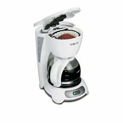 White Simple Brew 4-Cup Switch Coffee Maker Brewer W/ Remova